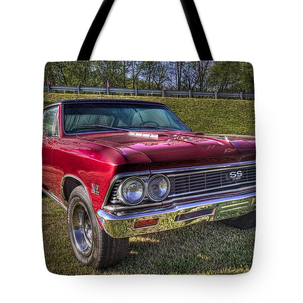 1976 Chevelle Ss 396 Tote Bag by Debra and Dave Vanderlaan