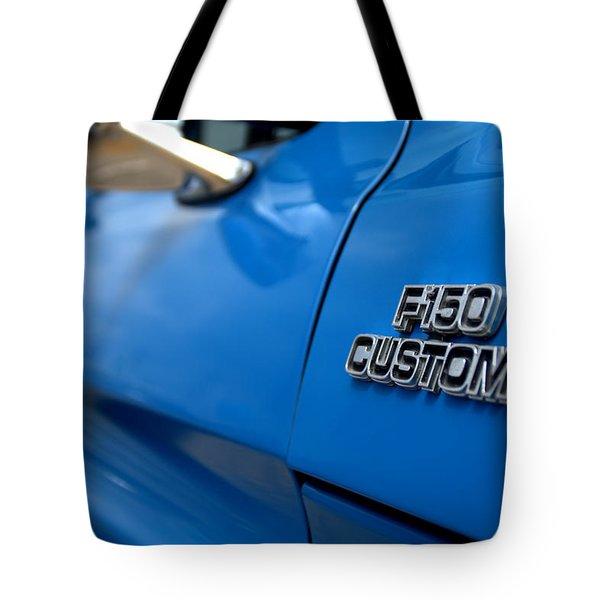 1977 Ford F 150 Custom Name Plate Tote Bag by Brian Harig