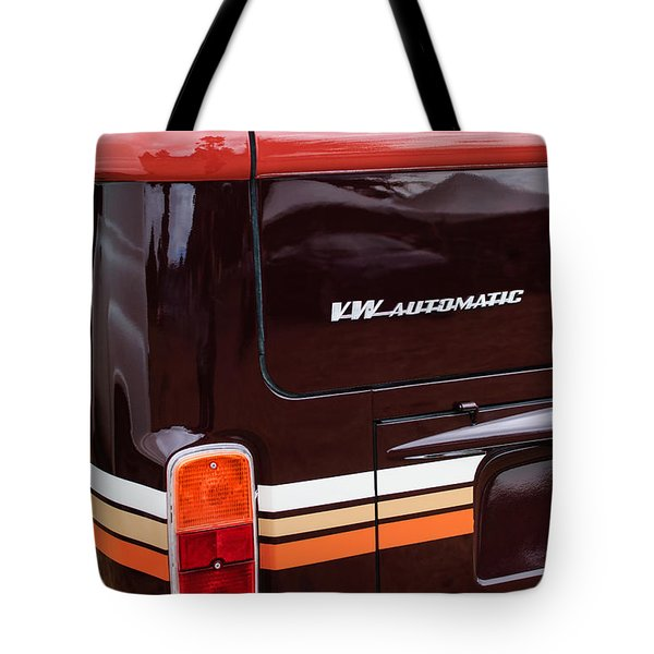 1978 Volkswagen Vw Champagne Edition Bus Taillight Emblem Tote Bag by Jill Reger