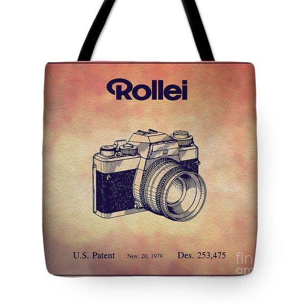 1979 Rollei Camera Patent Art 1 Tote Bag