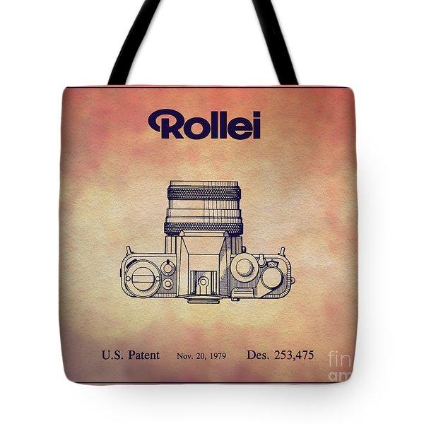 1979 Rollei Camera Patent Art 2 Tote Bag