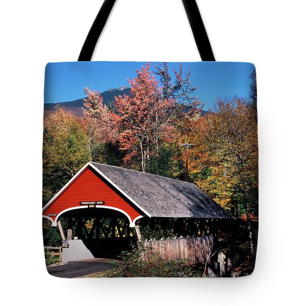 1980s Autumn Scenic Of In The Flume Tote Bag