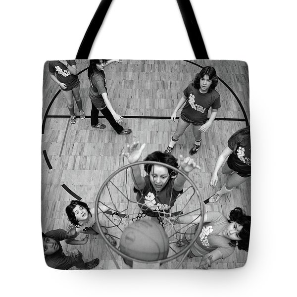 1980s Birds Eye View Of Group Of Kids Tote Bag