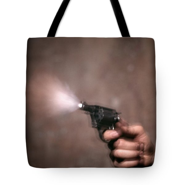 1980s Blur Motion Of A Hand Shooting Tote Bag