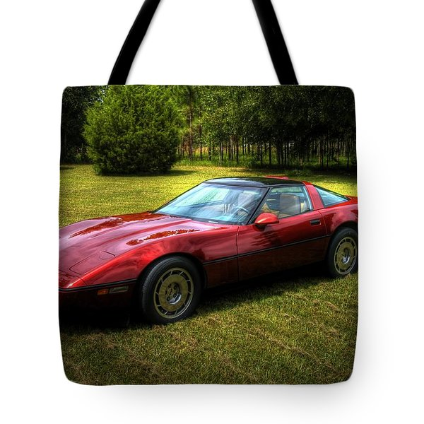 1986 Corvette Tote Bag