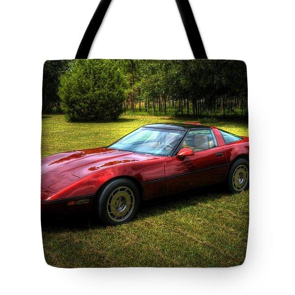 1986 Corvette Tote Bag