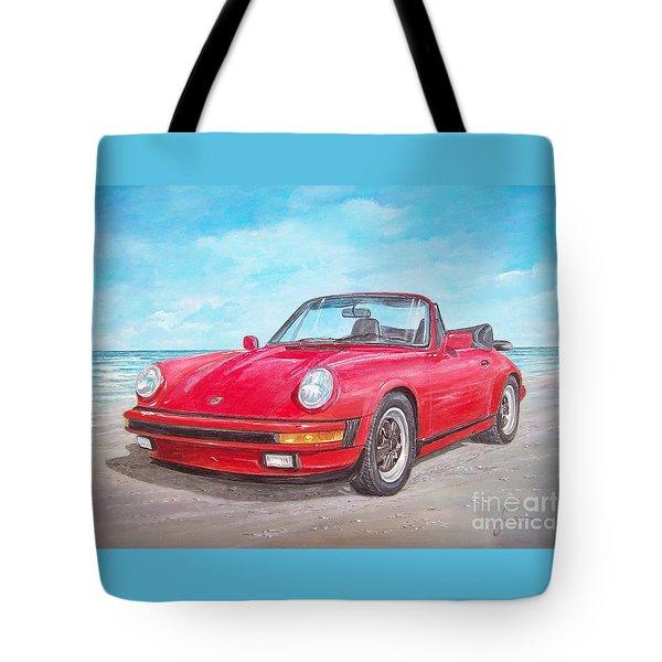 1987 Porsche Carrera Cabriolet Tote Bag