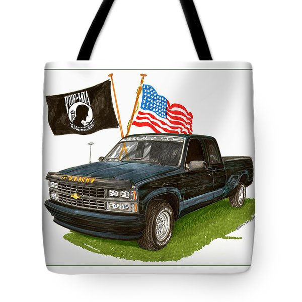 1988 Chevrolet M I A Tribute Tote Bag by Jack Pumphrey