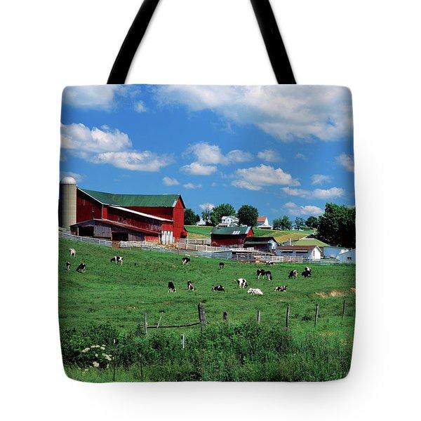 1990s Amish Farm Bunker Hill Ohio Usa Tote Bag