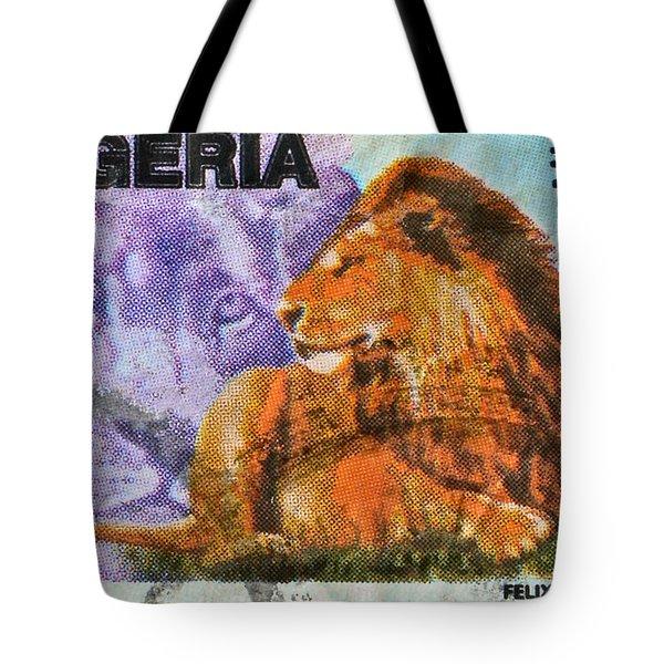 1993 Nigerian Lion Stamp Tote Bag