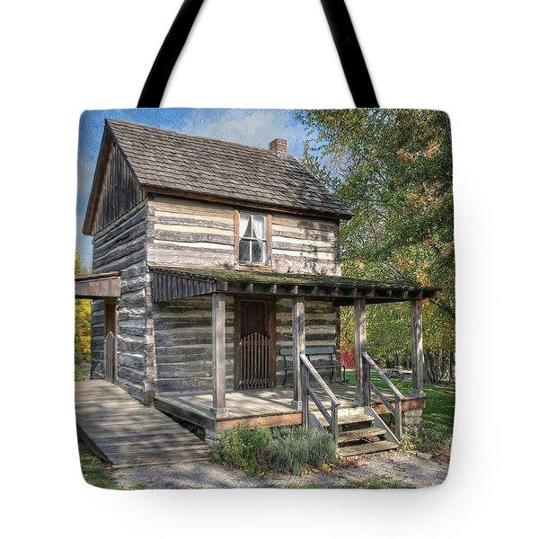 19th Century Cabin Tote Bag