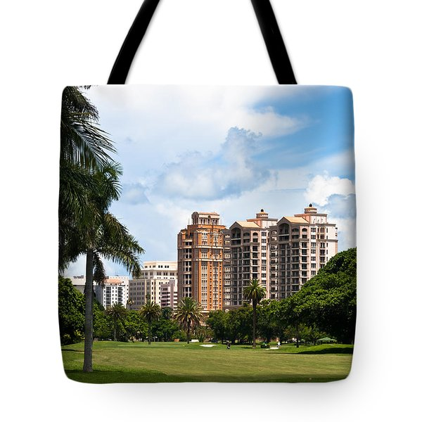 1st Hole At Granada Golf Course Tote Bag