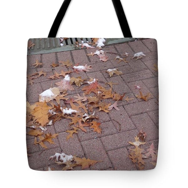 1st Snow Detail Tote Bag