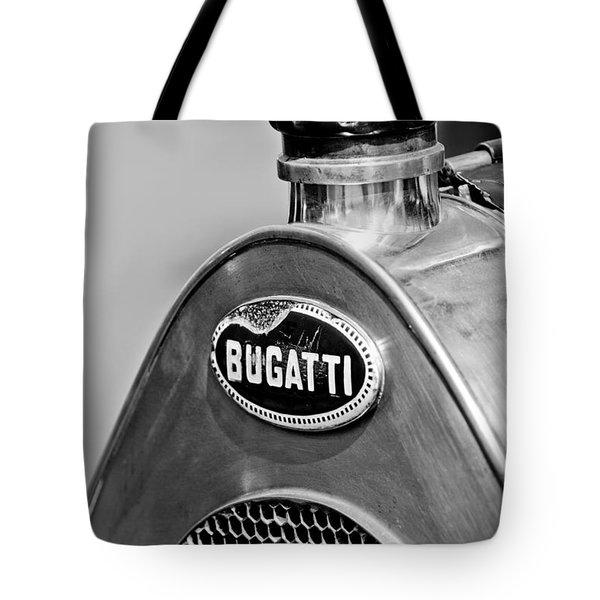 1920 Bugatti Type 13 Grille Emblem Tote Bag by Jill Reger