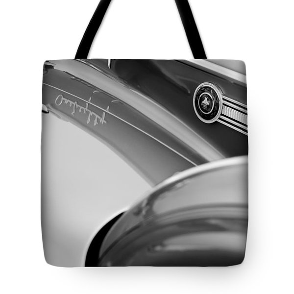 1941 Packard 1907 Custom Eight One-eighty Lebaron Sport Brougham Side Emblems Tote Bag by Jill Reger