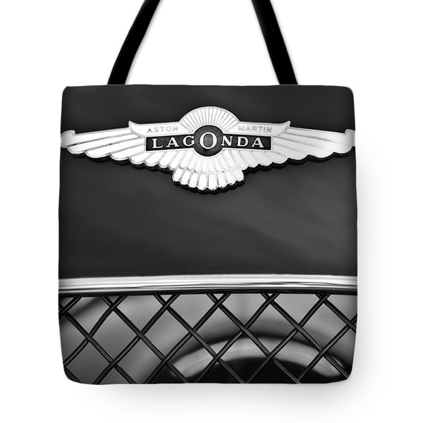 1959 Aston Martin Jaguar C-type Roadster Hood Emblem Tote Bag