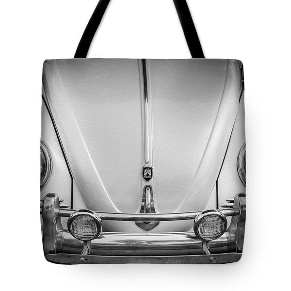 1960 Volkswagen Beetle Vw Bug   Bw Tote Bag by Rich Franco