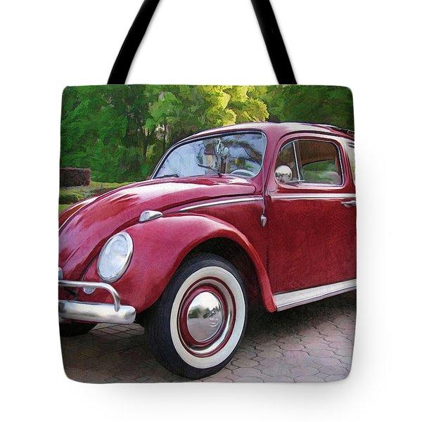 1960 Vw  Bug Tote Bag