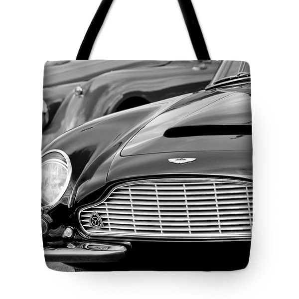 Tote Bag featuring the photograph 1965 Aston Martin Db6 Short Chassis Volante by Jill Reger