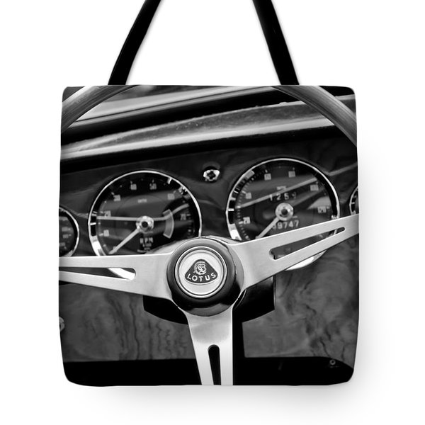 1965 Lotus Elan S2 Steering Wheel Emblem Tote Bag by Jill Reger