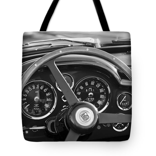 1967 Aston Martin Db6 Volante Steering Wheel Emblem Tote Bag
