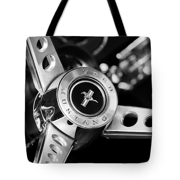 1969 Ford Mustang Mach 1 Steering Wheel Tote Bag by Jill Reger