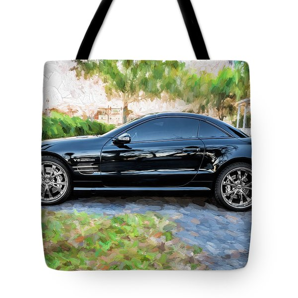2006 Mercedes Benz Sl55 V8 Kompressor Coupe Painted  Tote Bag