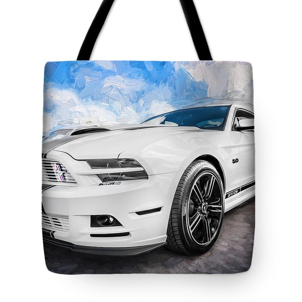 2014 Ford Mustang Gt Cs Painted  Tote Bag by Rich Franco