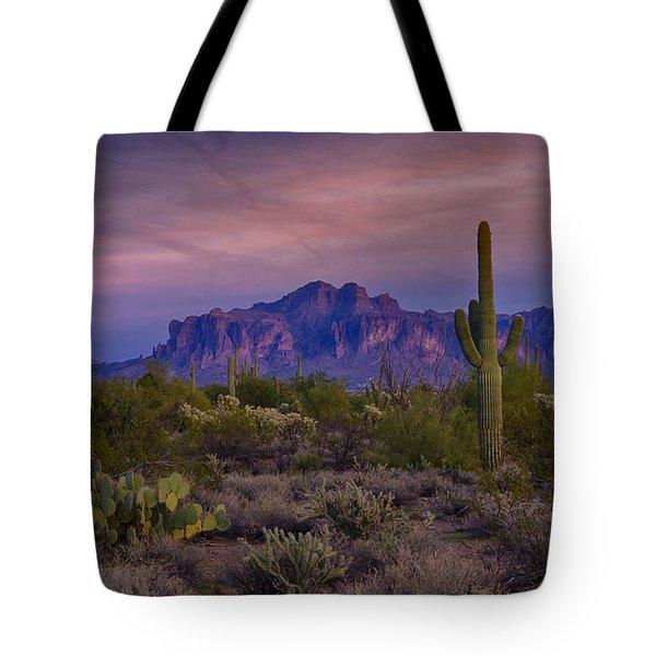 A Beautiful Desert Evening  Tote Bag
