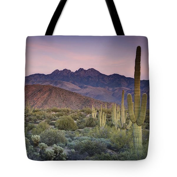 A Desert Sunset  Tote Bag