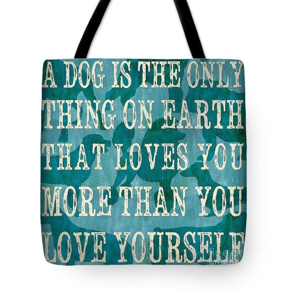 A Dog Tote Bag by Debbie DeWitt