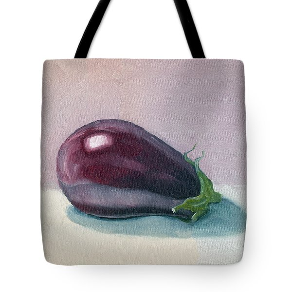 A Is For Aubergine Tote Bag
