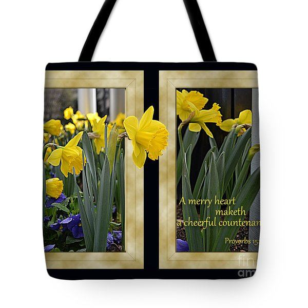 A Merry Heart Tote Bag by Larry Bishop