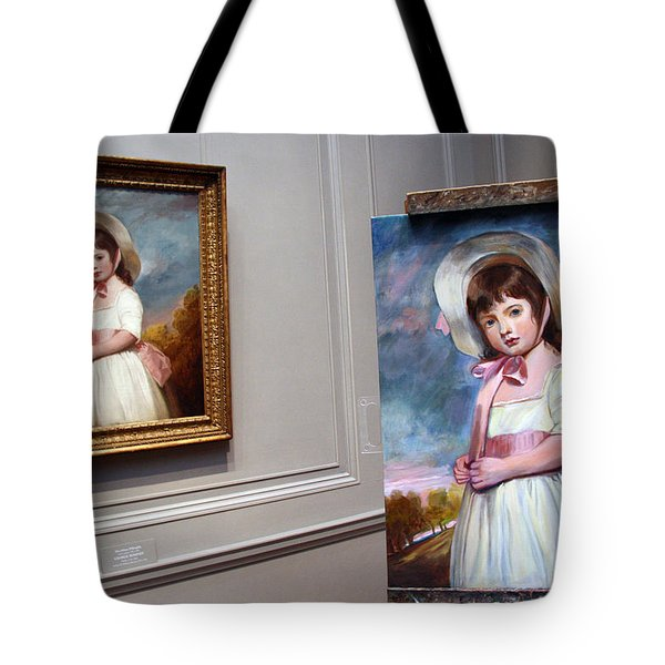 Tote Bag featuring the photograph A Painting Of A Painting by Cora Wandel