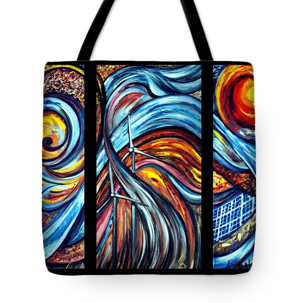 Tote Bag featuring the painting A Ray Of Hope by Harsh Malik