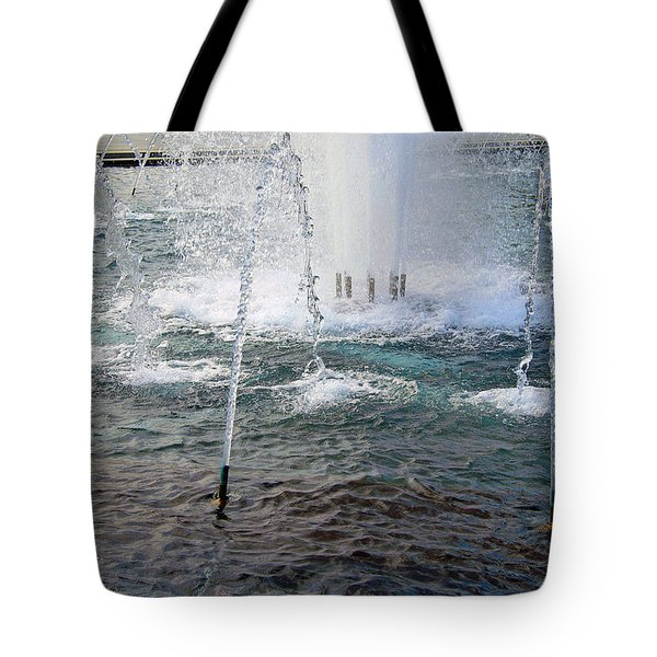 Tote Bag featuring the photograph A World War Fountain by Cora Wandel