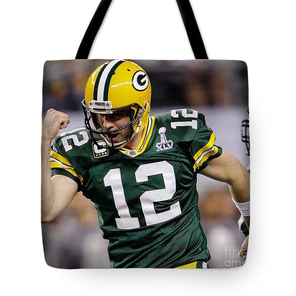 Aaron Rodgers Tote Bag by Marvin Blaine