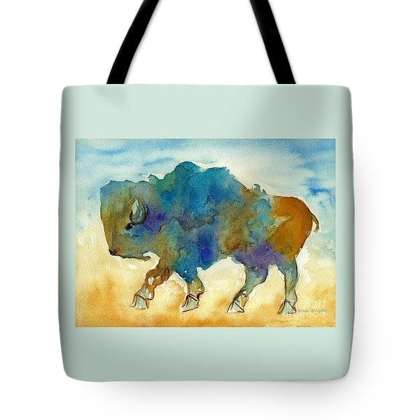 Abstract Buffalo Tote Bag by Nan Wright
