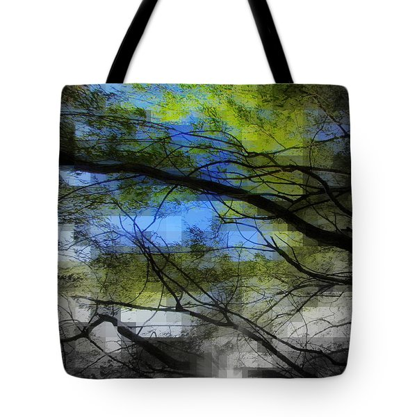 Tote Bag featuring the photograph Abstract Forest by France Laliberte