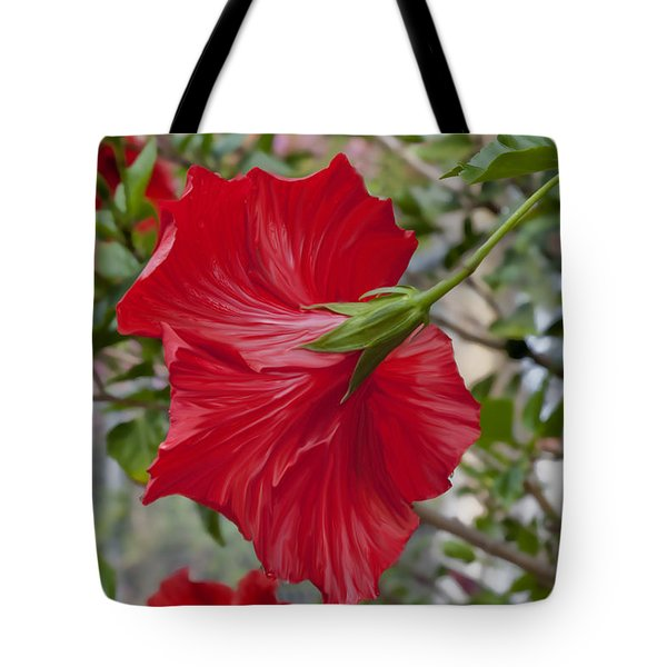 Abstract Hibiscus Tote Bag