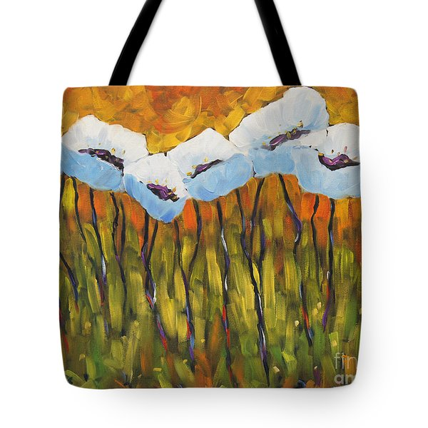 Abstract Poppies Tote Bag