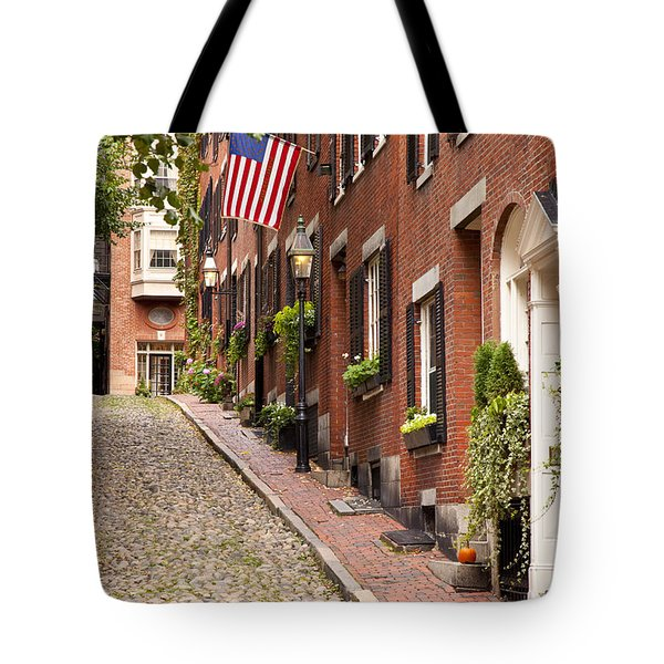 Acorn Street Boston Tote Bag by Brian Jannsen