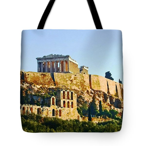 Acropolis Tote Bag by Ellen Henneke