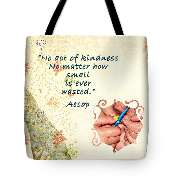 Act Of Kindness Tote Bag by Linda Cox
