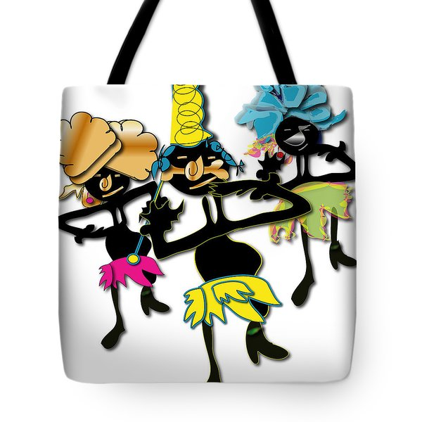 Tote Bag featuring the digital art African Dancers by Marvin Blaine