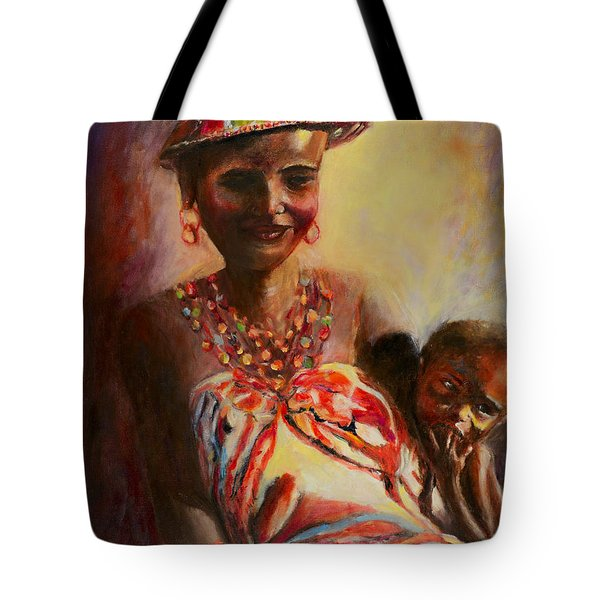 African Mother And Child Tote Bag