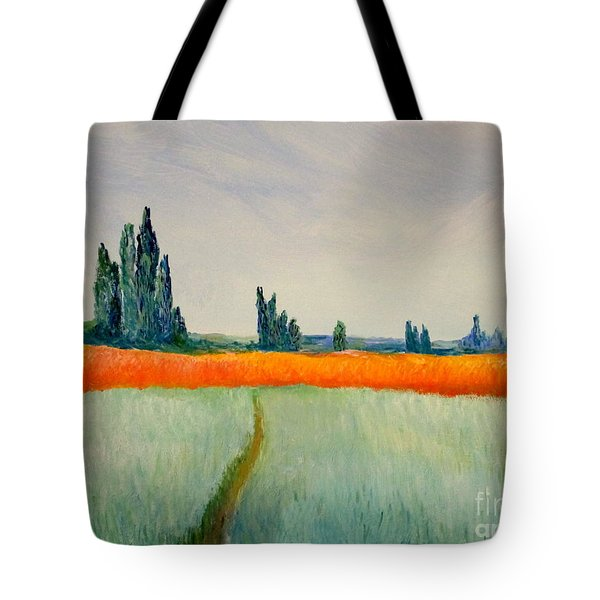 Tote Bag featuring the painting After Monet by Bill OConnor