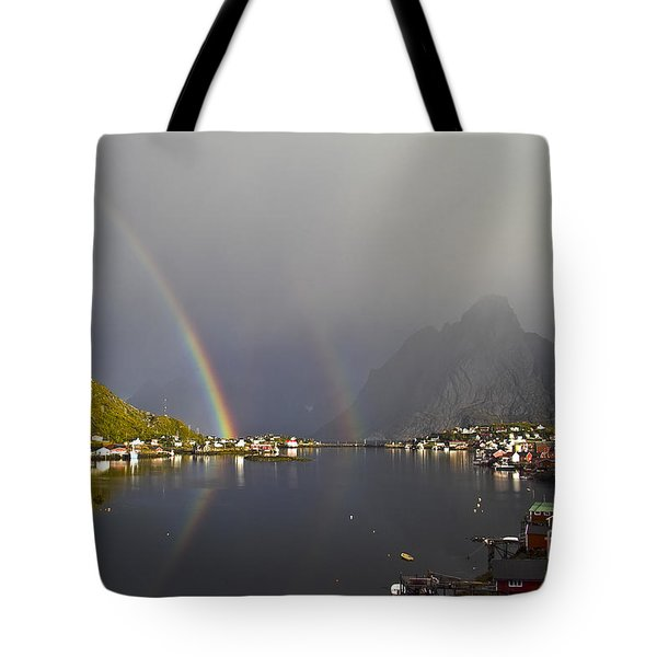 After The Rain In Reine Tote Bag by Heiko Koehrer-Wagner