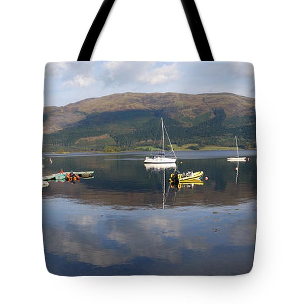 Tote Bag featuring the photograph Along Loch Leven 3 by Wendy Wilton
