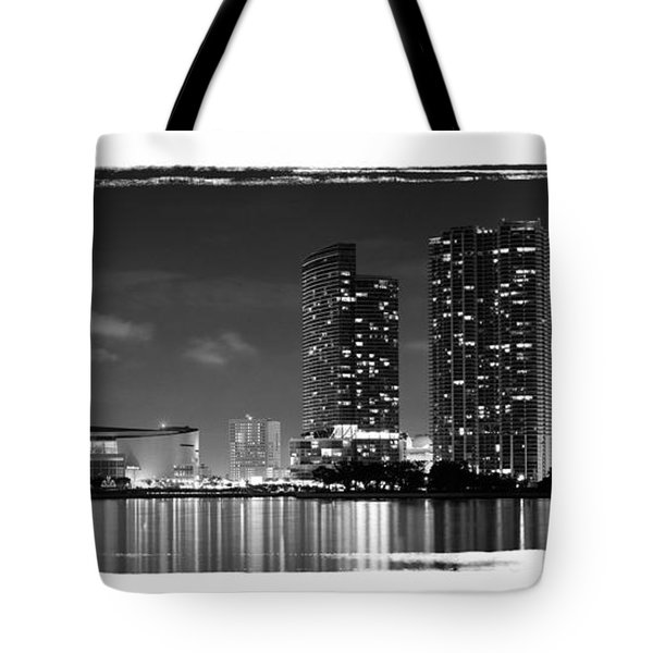 American Airlines Arena And Condominiums Tote Bag by Carsten Reisinger